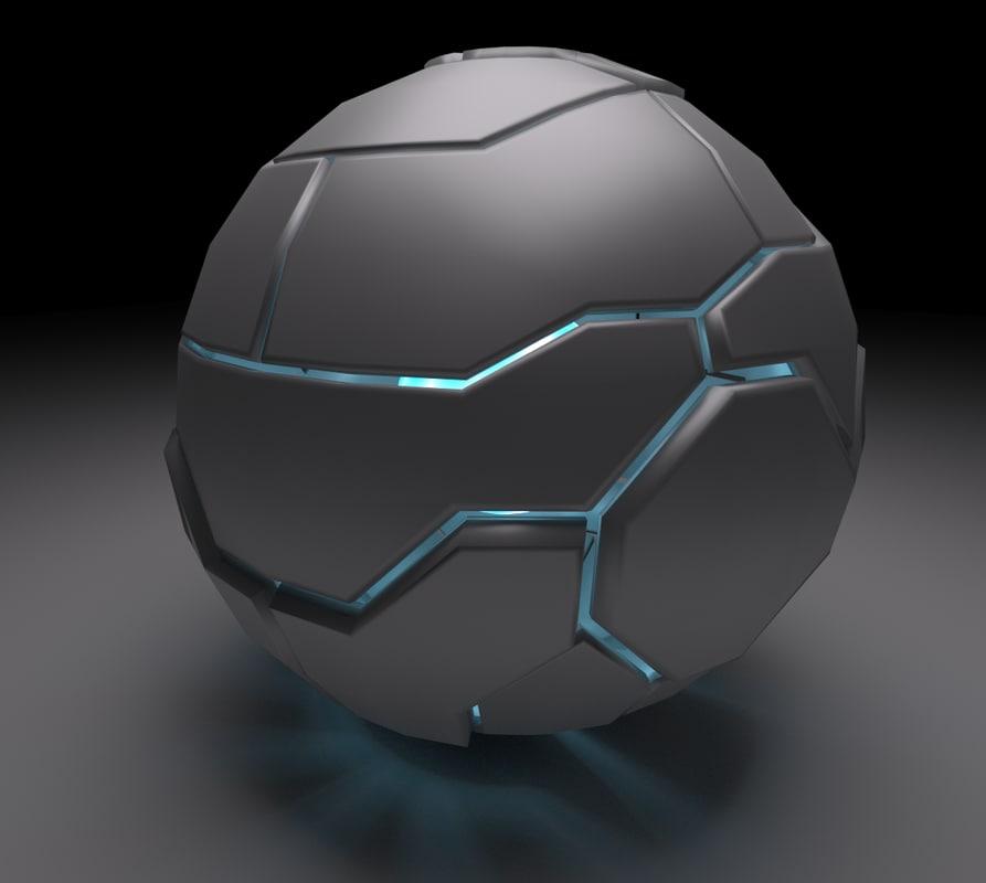 techno sphere 3d model