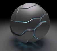 techno sphere 3d model