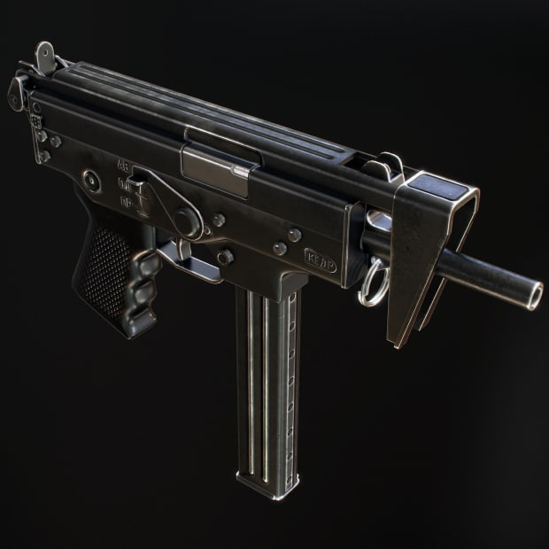 3d model of pp-91 kedr submachine gun