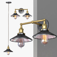 3d model of chandelier loft