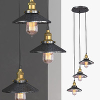 3d model chandelier 3 loft
