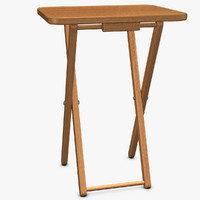 wood folding table 3d 3ds