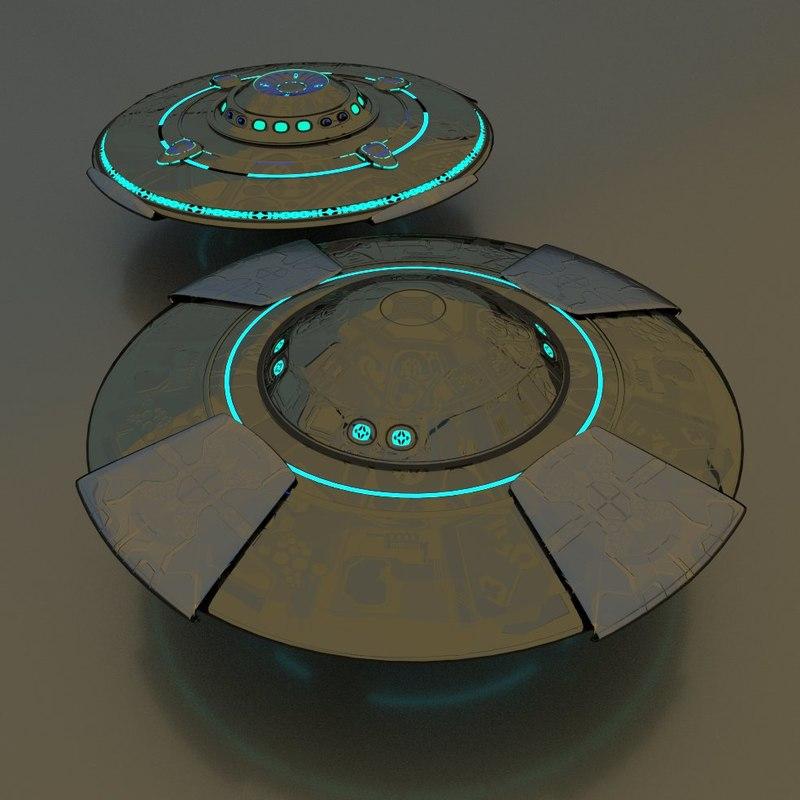 ufo 3d blend