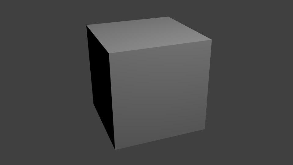 cube 3d obj
