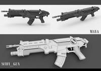 Scifi Gun High poly