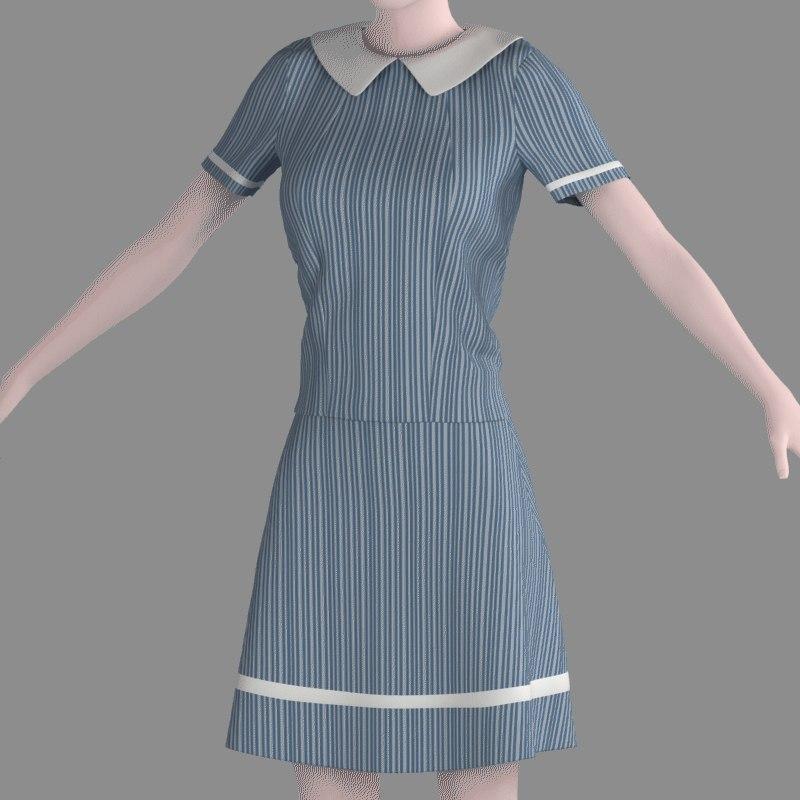 3d model dress body