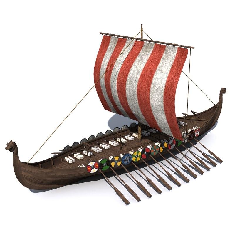 3d model viking vikingboat