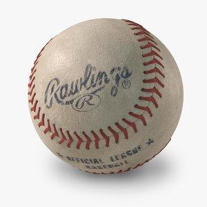 baseball rawlings old looking 3d max