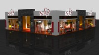 fair exhibition wooden stand 3d max