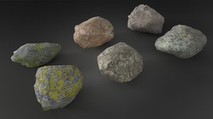 3d max stone rock