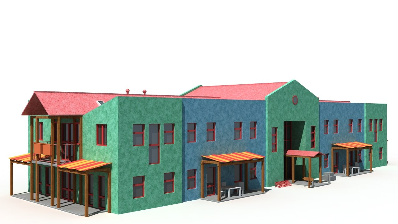 3d model of building background