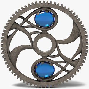 3d max fantasy gear wheel