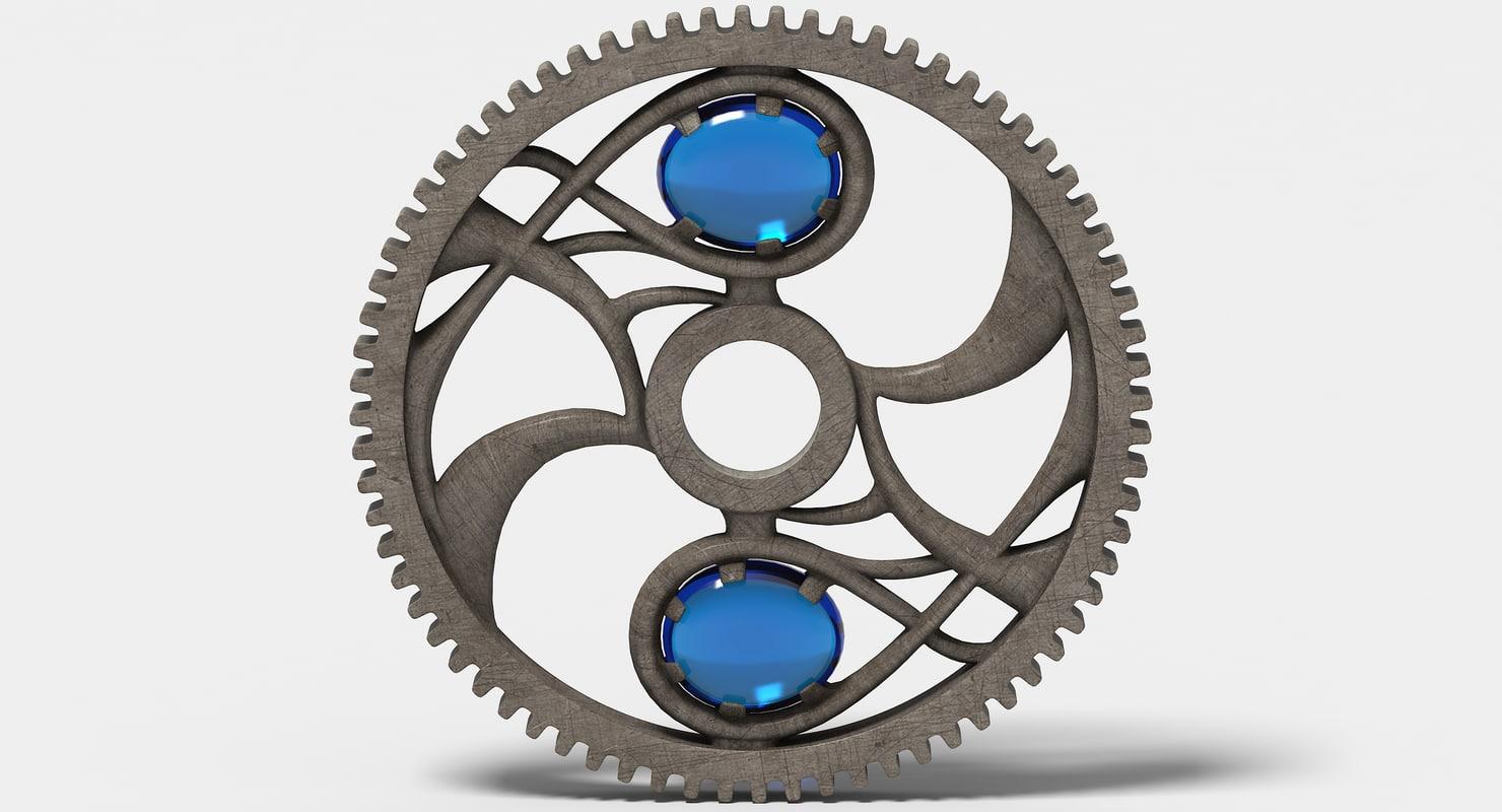 3d max fantasy gear wheel