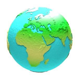 3d model cartoon earth 2