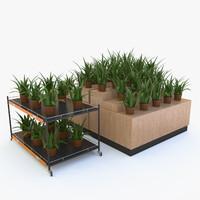 flower rack 3d max