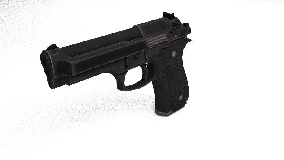 3d model beretta 92a1 pistol