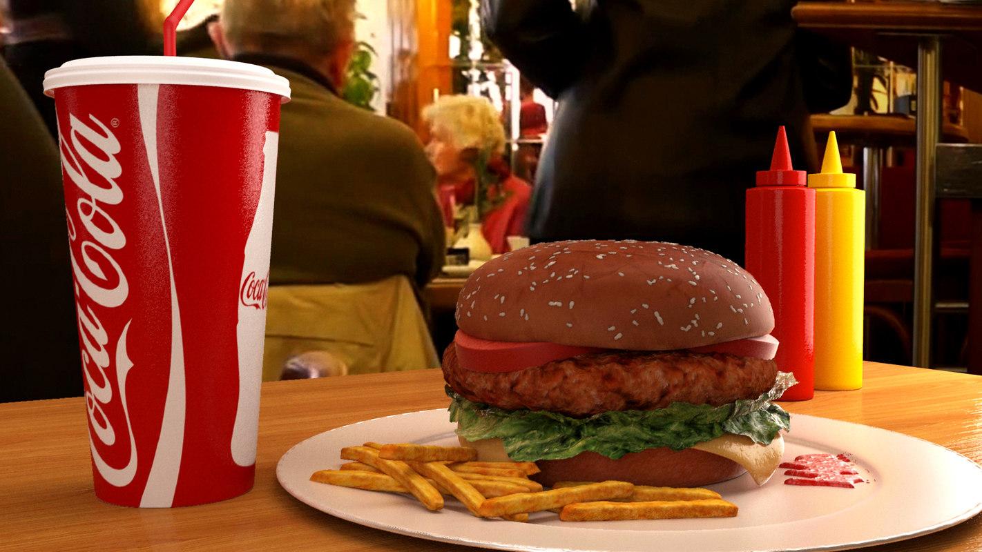 3d burger bun