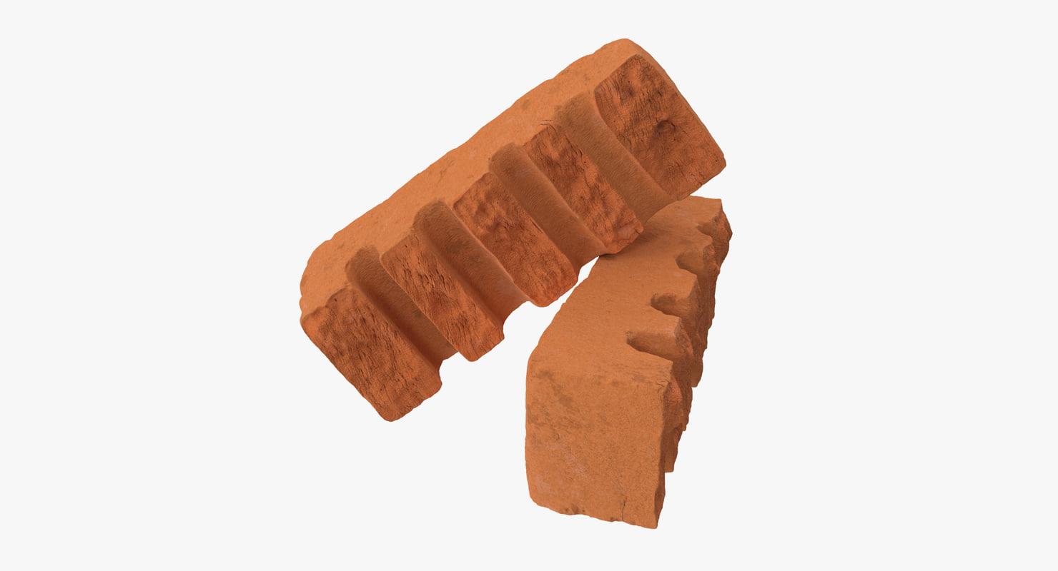 3d model bricks broken 06