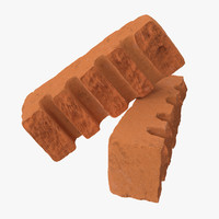 3d model bricks broken 06