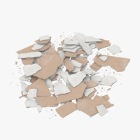 3d model of broken sheetrock 03 -