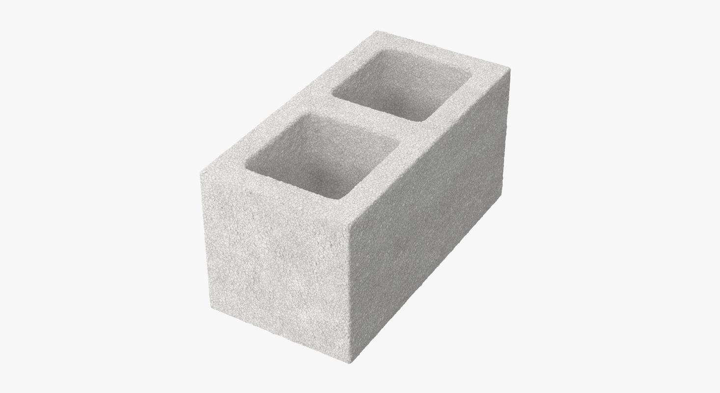 cinder block 02 3d model
