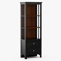 3d model keefe bookcase - black