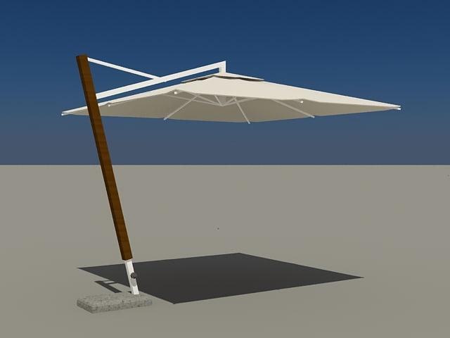 3d patio parasol model