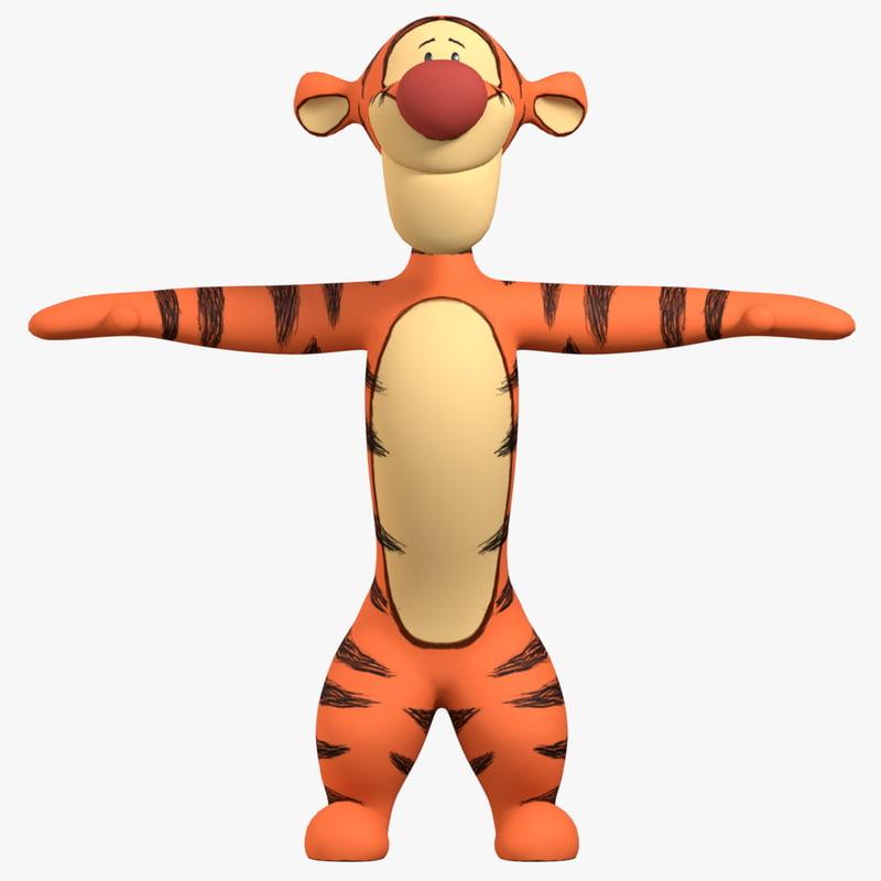 tigger winnie pooh 3d obj