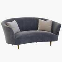 3d lounge vintage model
