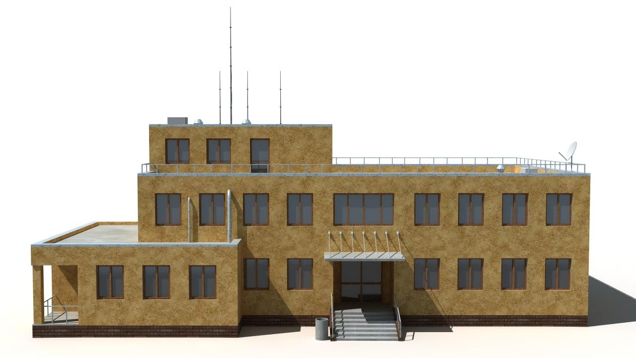 3d building background model