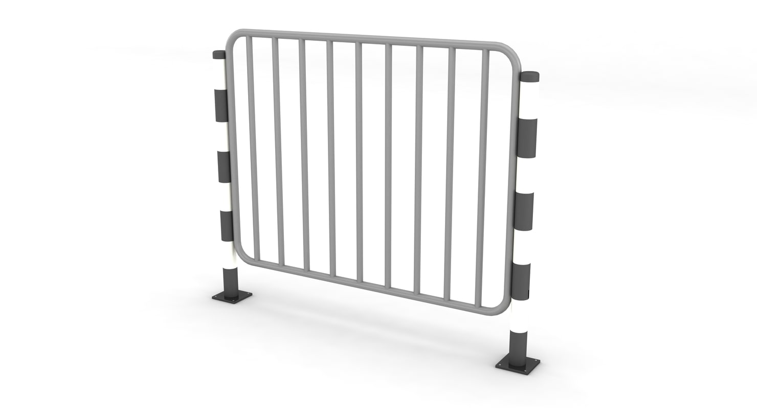 metal parking fence 3d max