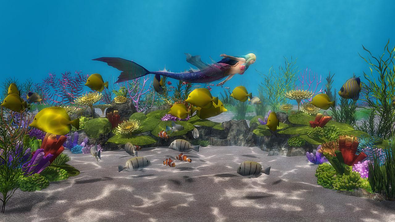 3d underwater scene model