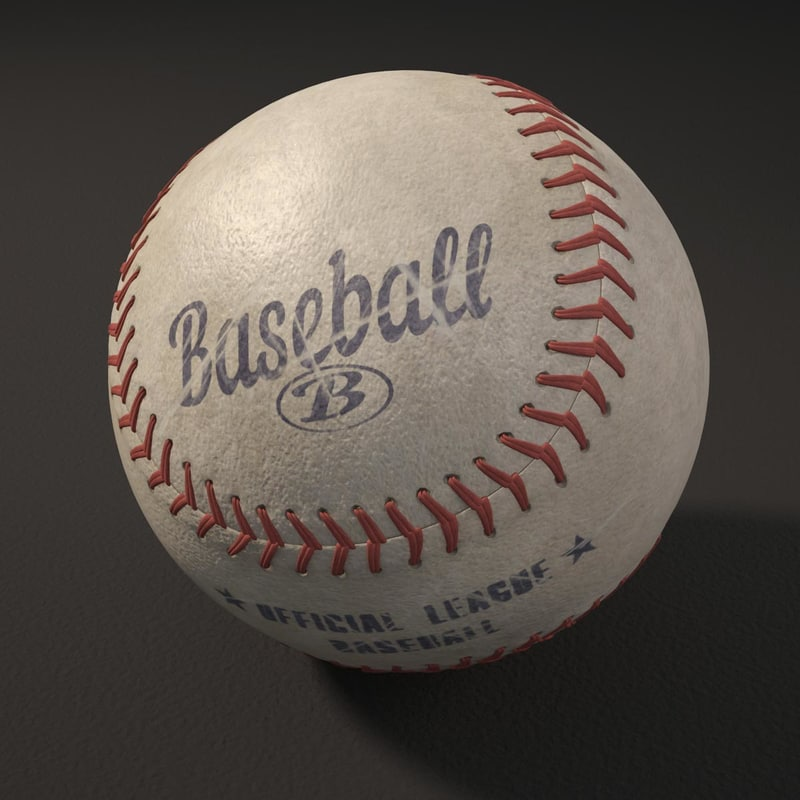 3d baseball old looking model