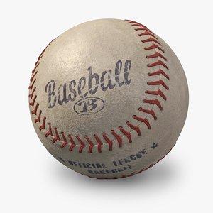 3d baseball old looking model