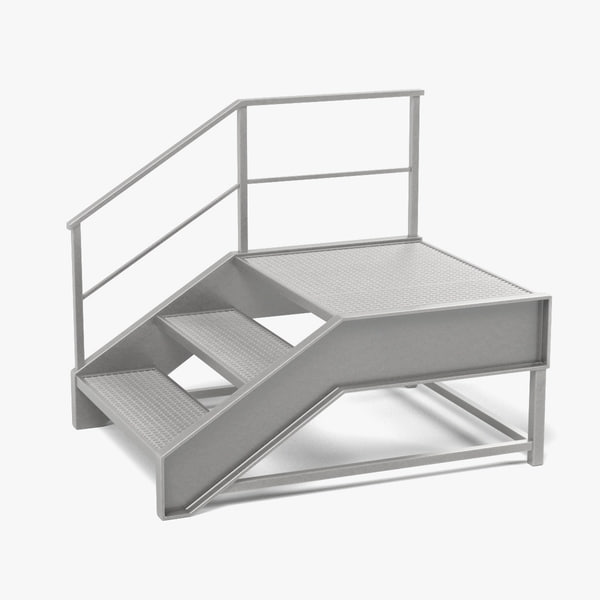 industrial stairs 3d 3ds