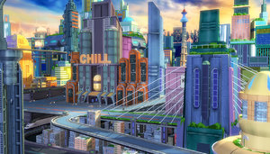 cartoon sci-fi city max