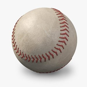 3d old baseball logo model
