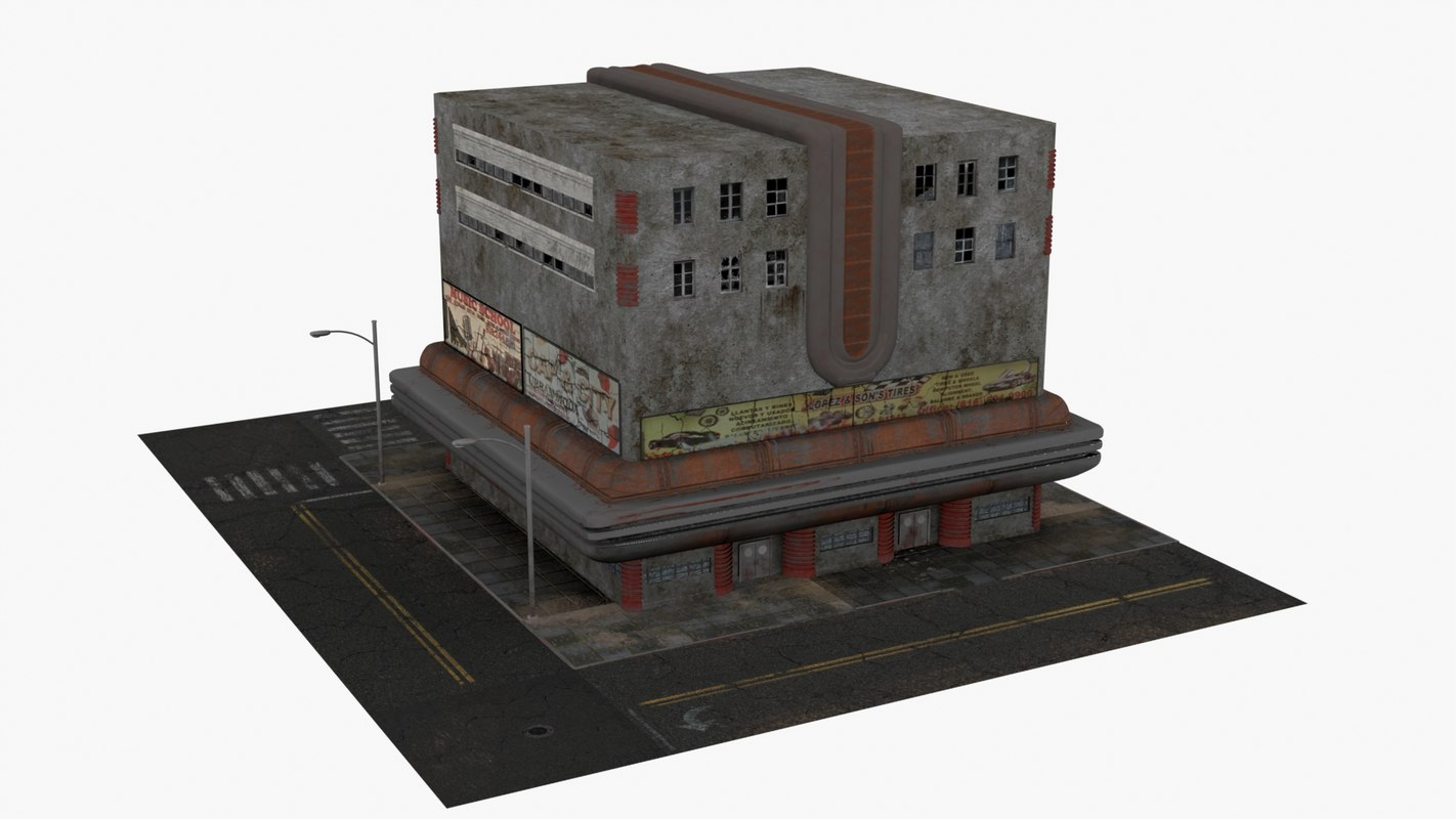 building dieselpunk 3d model