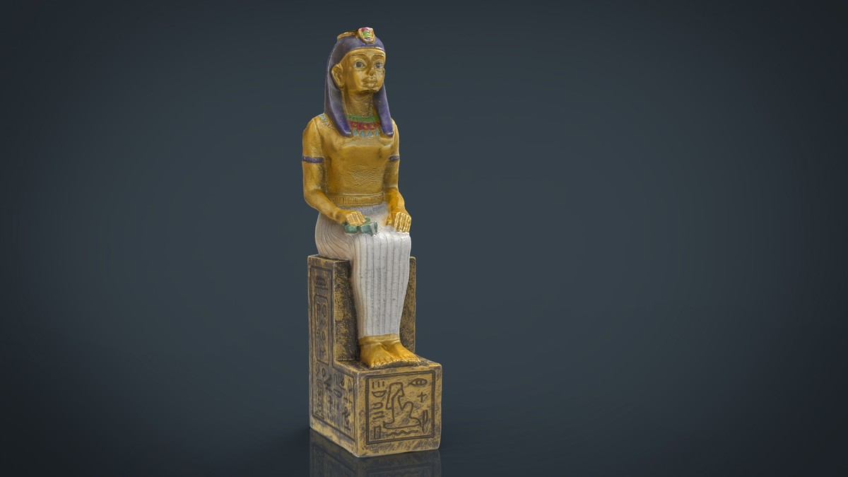 3d hd egyptian figure