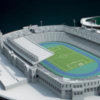 olympic stadium barcelona 3d x