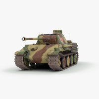 ww2 german panther ausf 3d model