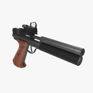 3d model of air gun pistol
