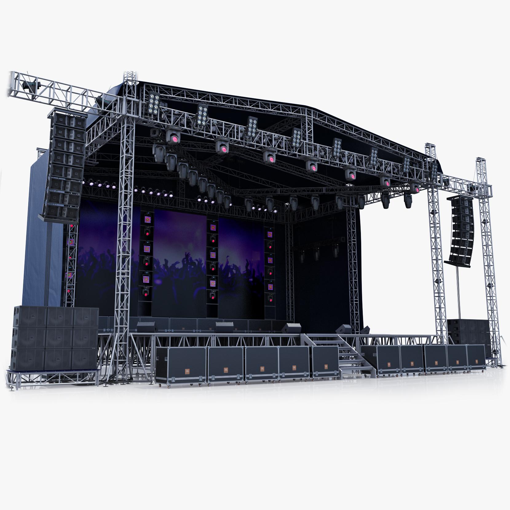 concert scene v1 3d model