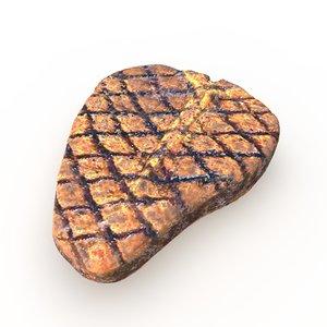 realistic grilled porterhouse steak 3d model
