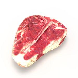 3d model realistic raw porterhouse steak