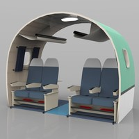 aircraft interior 3d model