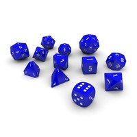polyhedral dice set - 3d 3ds