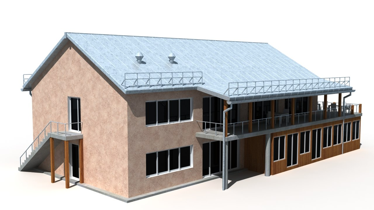 building background 3d max