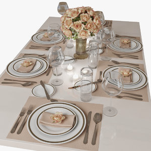 3d table setting