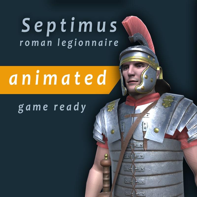 3d model roman legionnaire septimus
